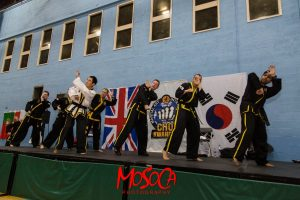 Mark Lloyd On Stage with Grand Master Kwang Jo Choi during seminar